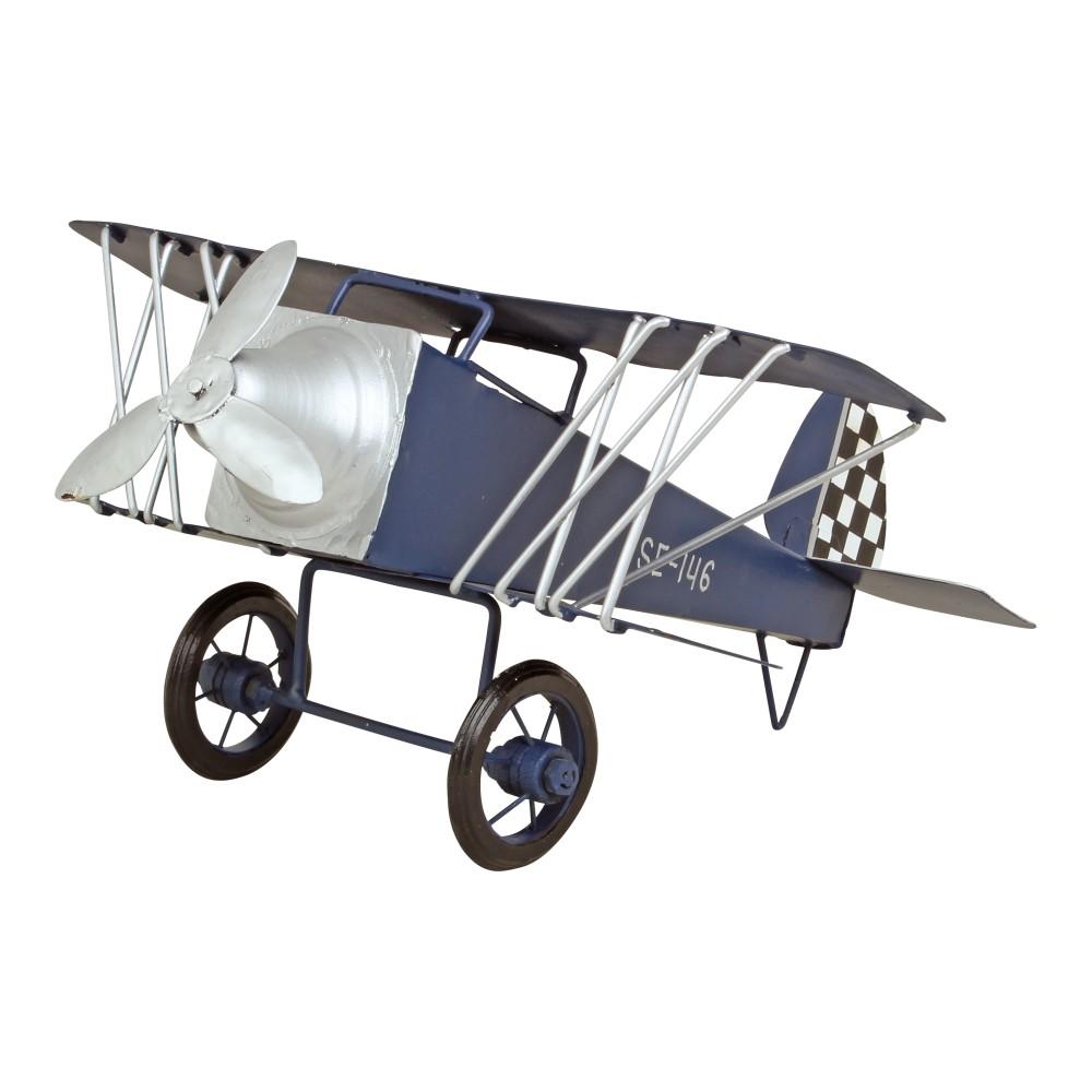 Kovová dekorácia v tvare lietadla Strömshaga