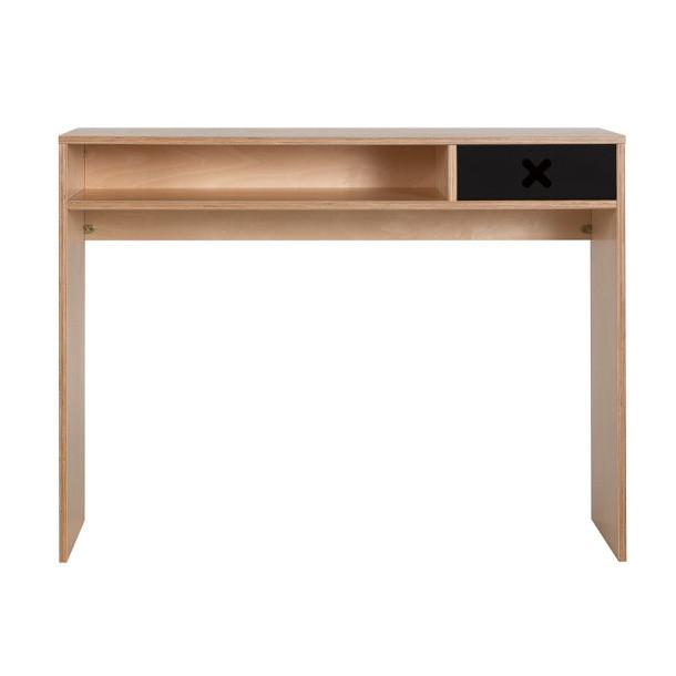 Čierny pracovný stôl s jednou zásuvkou Durbas Style