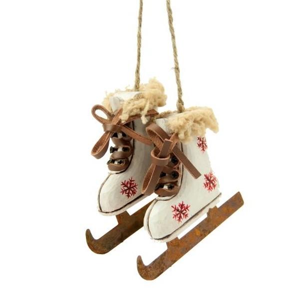 Závesná dekorácia Skiing Boots White