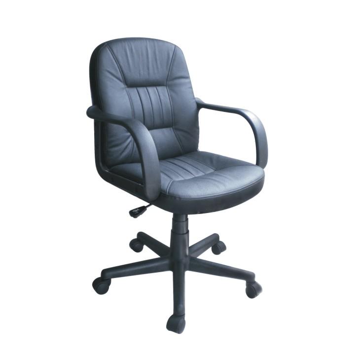 Kancelárska stolička PAUL NEW 1062  CIERNA SPLIT KOZA + EKOK.