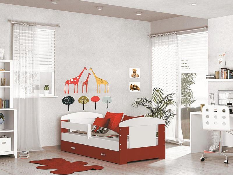DETSKÁ POSTEĽ FILIP COLOR bez úložného priestoru   Farba: biela / červená