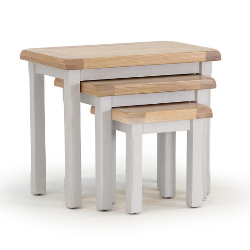 Sada 3 stoličiek z akáciového dreva VIDA Living Clemence