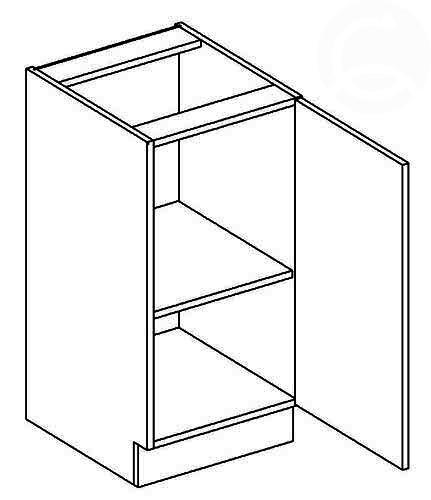 >> D40 P/L dolná skrinka jednodverová vhodná ku kuchyni FALA