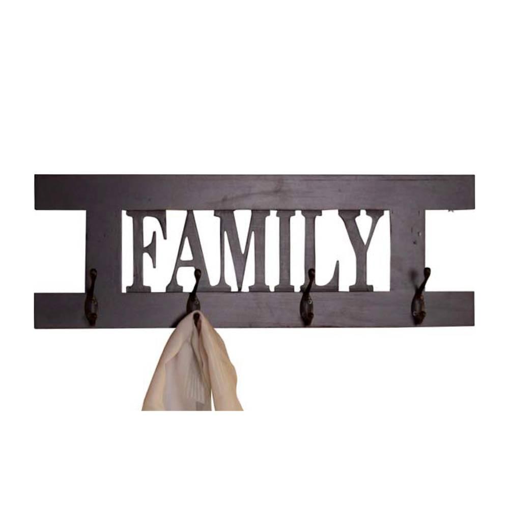 Vešiak FAMILY hnedý