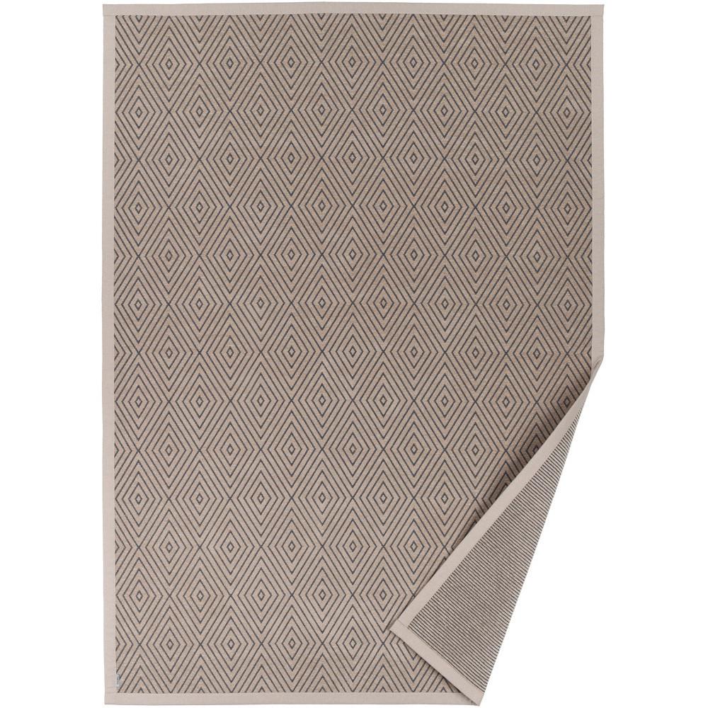 Béžový vzorovaný obojstranný koberec Narma Kalana, 70x140cm