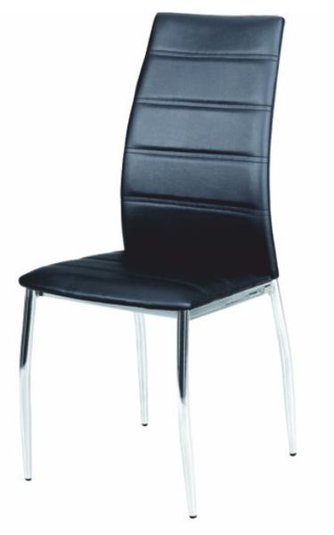 Jedálenská stolička Dela čierna