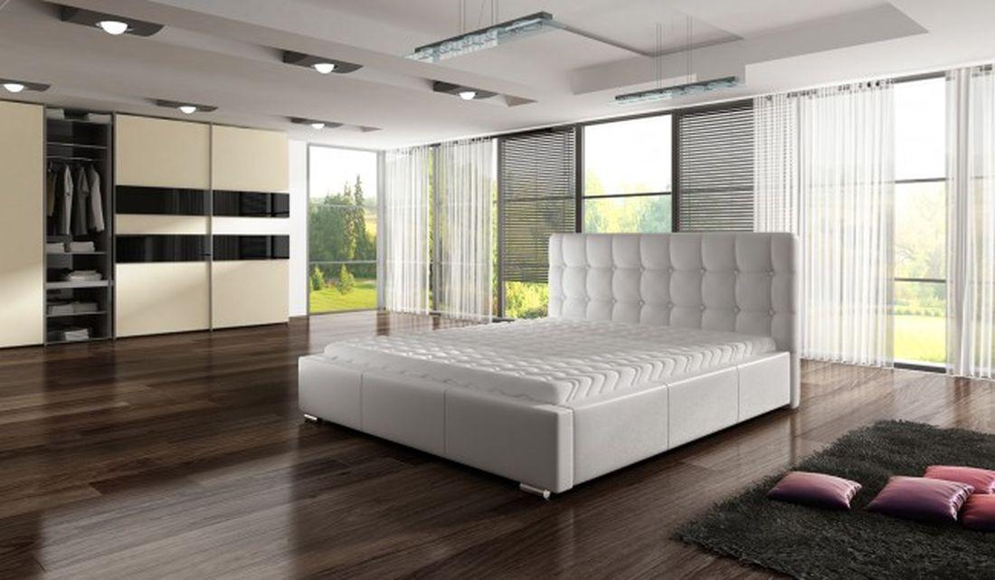 Luxusná posteľ ALEX, 140x200 cm, madrid 923 + úložný priestor