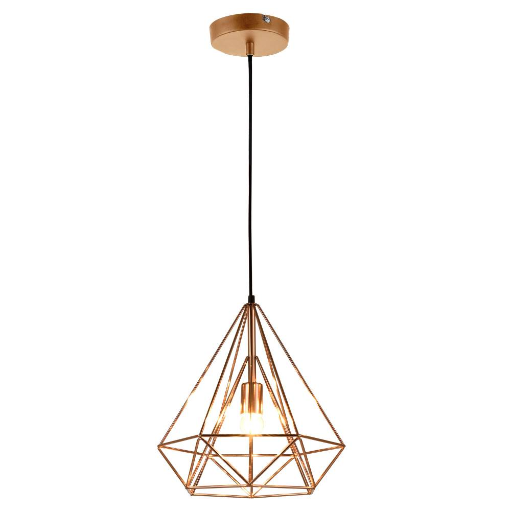 [lux.pro]® Dekoratívna dizajnová design závesná lampa HT168020 - meď (1 x E27)