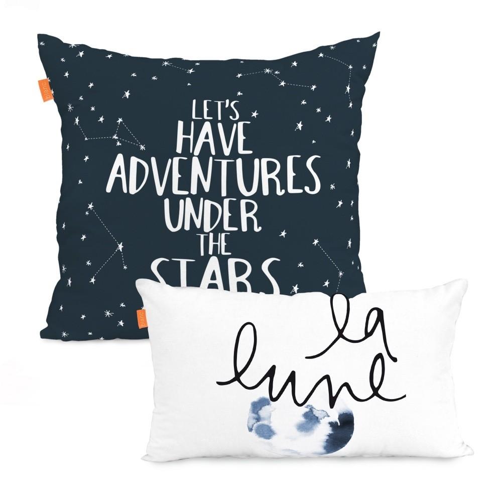 Sada 2 obliečok na vankúš Blanc Constellation