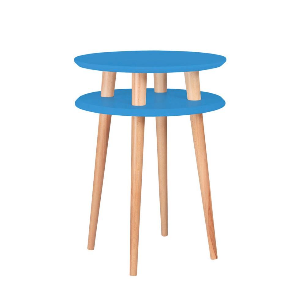 Modrý odkladací stolík Ragaba Ufo, ⌀45 cm