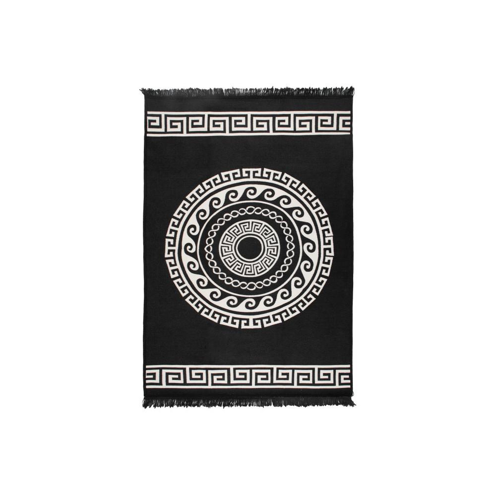 Obojstranný béžovo-čierny koberec Home De Bleu Mandala, 160 x 250 cm