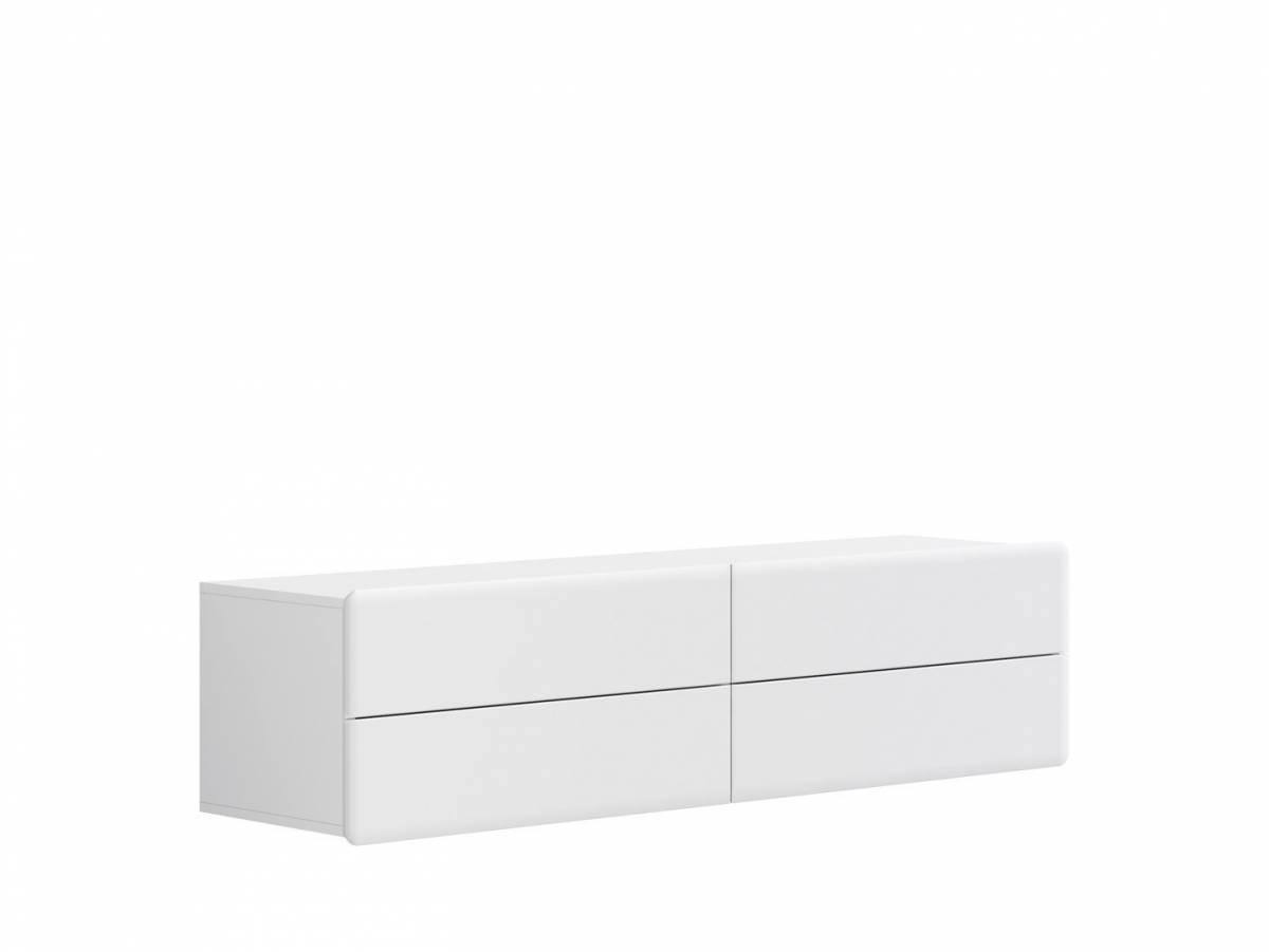 TV stolík/skrinka Possi Light RTV4S 4/16 (biela + lesk biely)