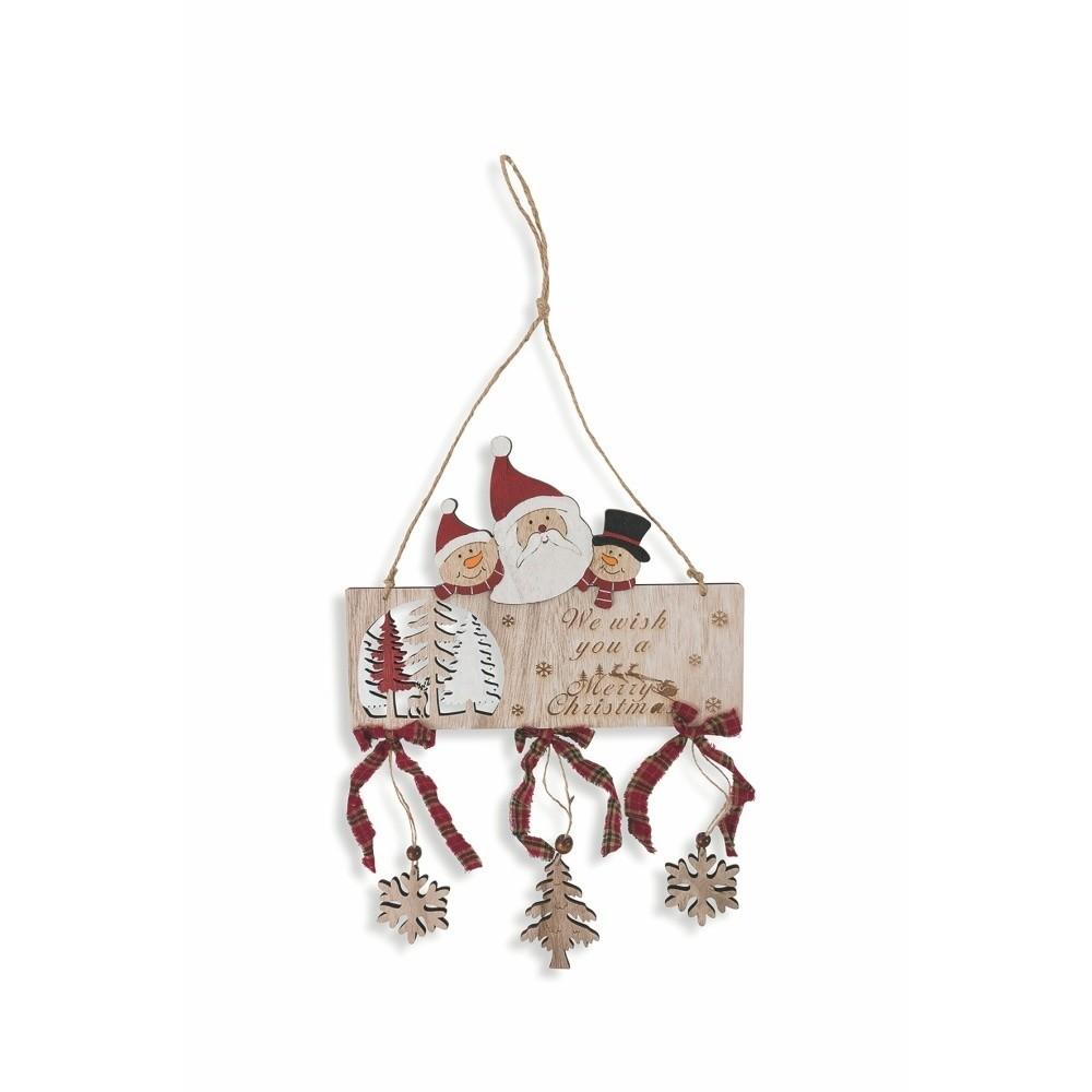 Závesná drevená vianočná dekorácia Villa d'Este Forest Merry XMAS Grande