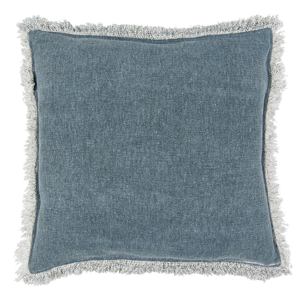Modrý zamatový vankúš Clayre & Eef, 45×45cm
