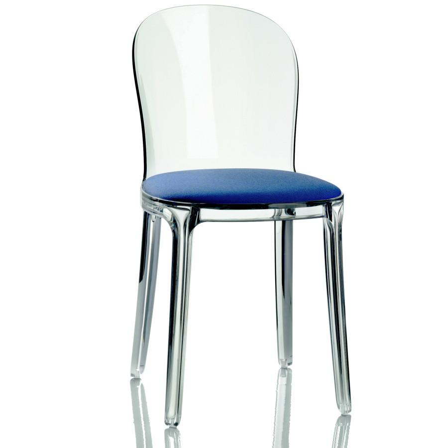 Stolička s modrým sedákom Magis Vanity
