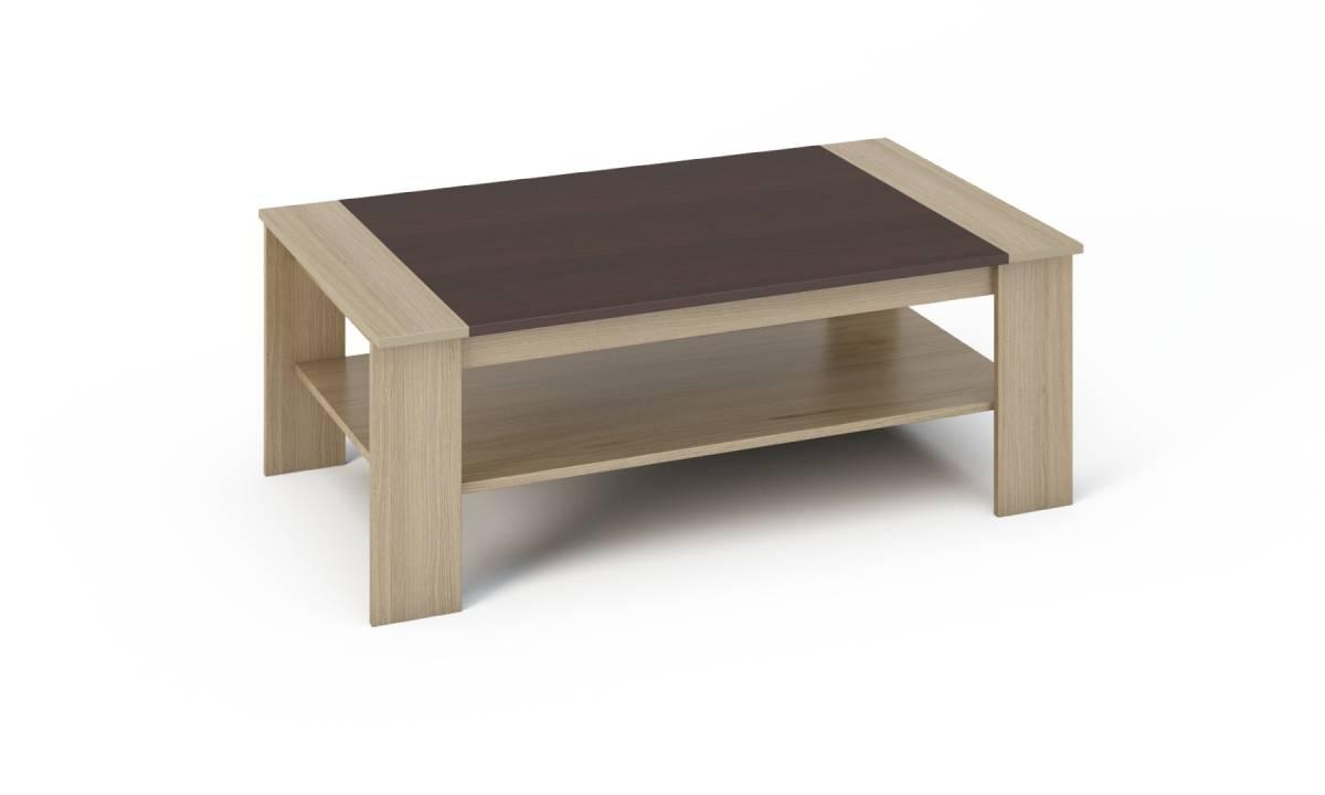 BARNY konferenčný stolík dub sonoma/wenge