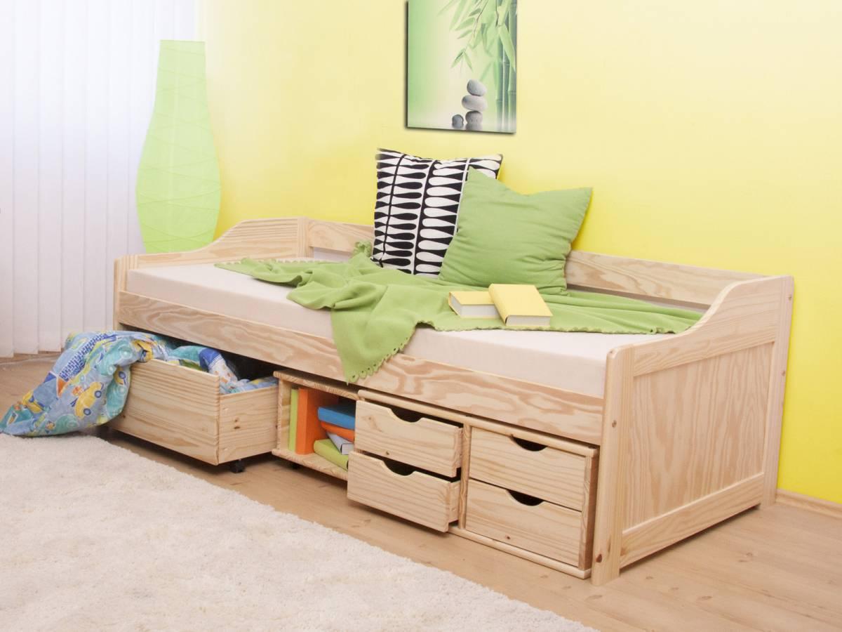 Jednolôžková posteľ 90 cm Maxi (masív, s roštom)