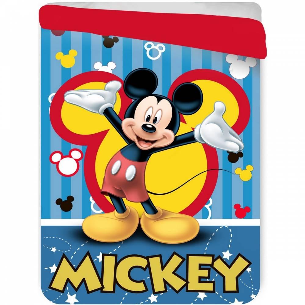 Jerry Fabrics Detská prešívaná prikrývka Mickey Mouse, 180 x 260 cm