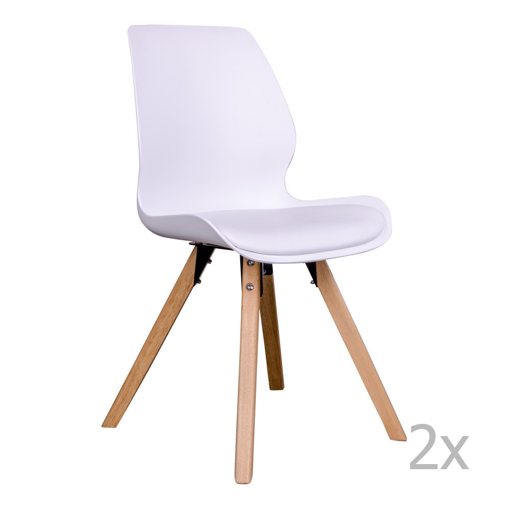 Sada 2 bielych stoličiek House Nordic Rana