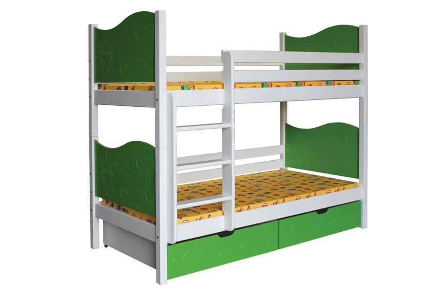 Bradop Poschodová posteľ NICOLAS (základné prevedenie) B412-80x180
