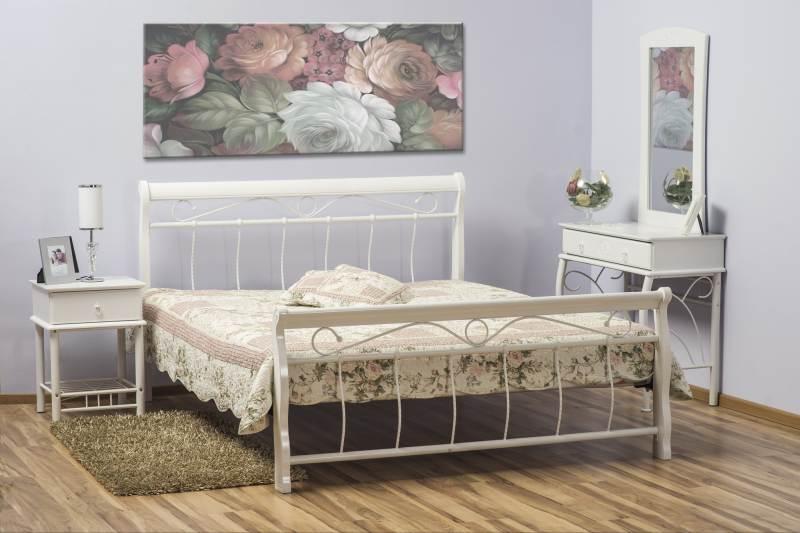 >> BENÁTKY posteľ 120x200 cm, biela/biela