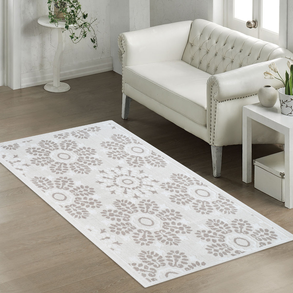 Béžový odolný koberec Vitaus Penelope, 80x200cm