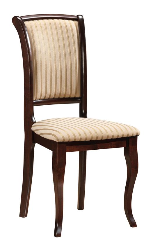SC-MN čalúnená jedálenská stolička, orech T19