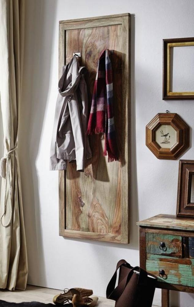NATURE GREY Sheesham nástenný vešiak, masívne palisandrové drevo #001