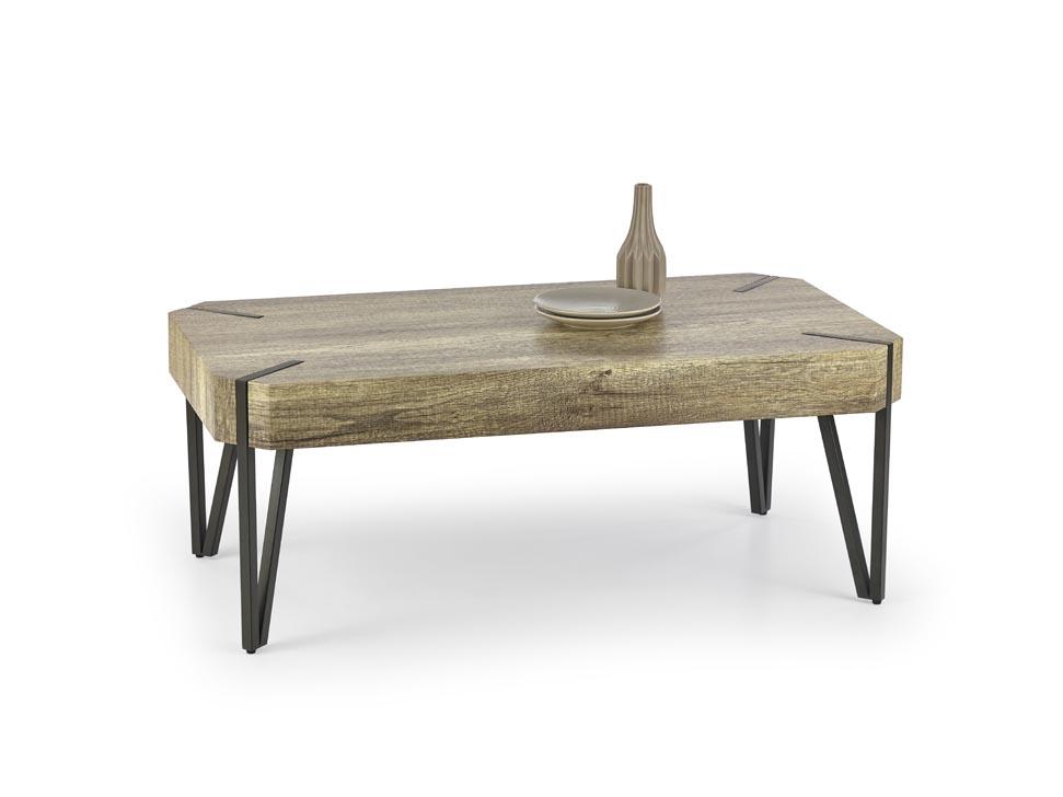 Konferenčný stolík Emily (dub divoký + čierna)