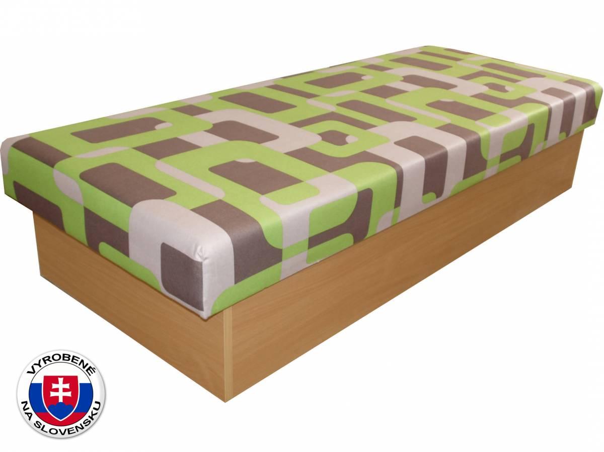 Jednolôžková posteľ (váľanda) 80 cm Benab Roger (Gusto Zelené) (s matracom)