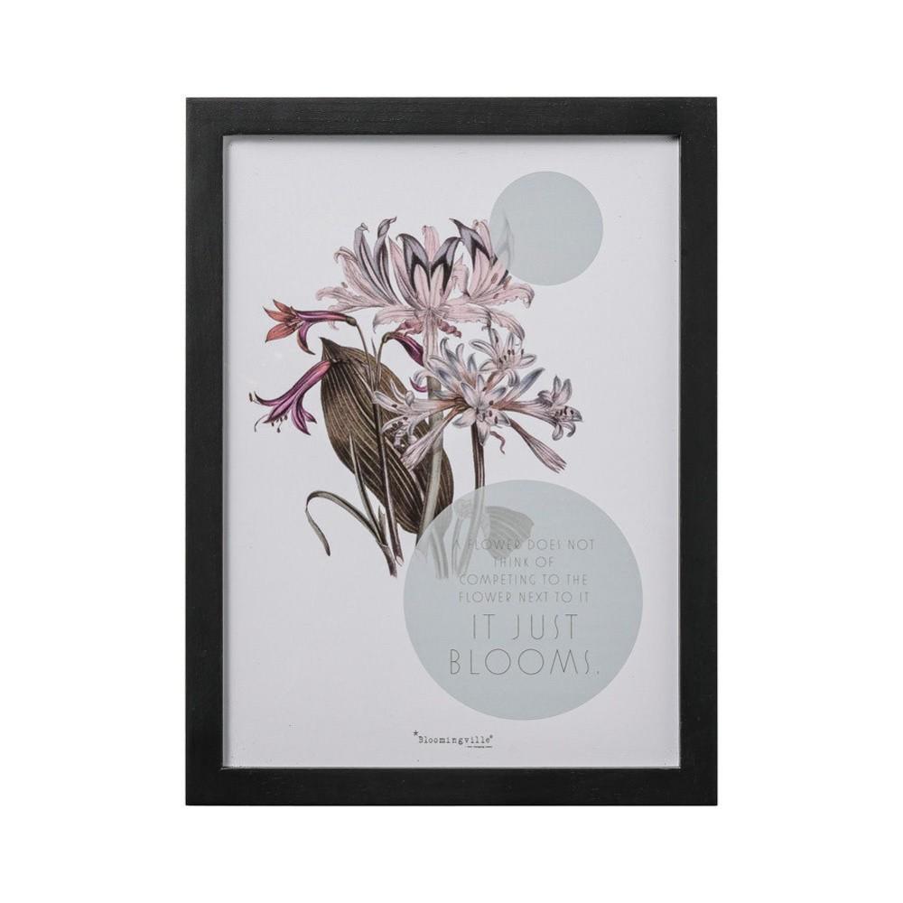 Obraz Bloomingville Flower, 40×30 cm