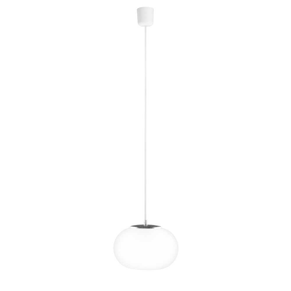 Bielo-strieborné svietidlo s bielym káblom a bielou objímkou Sotto Luce Dosei