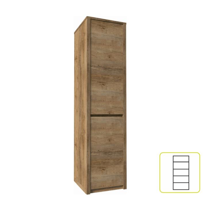 Skriňa s jednými predelenými dverami, dub lefkas, MONTANA S1D
