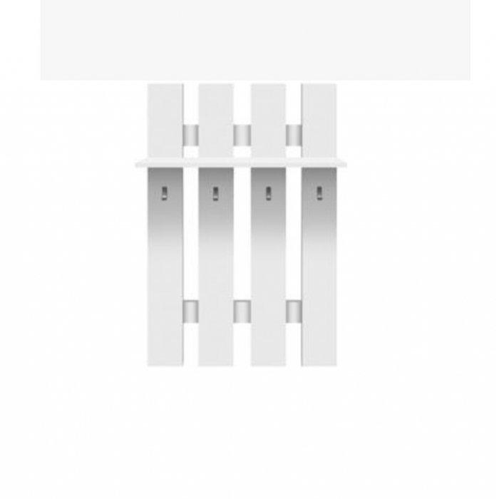 TEMPO KONDELA TOPTY TYP 17 vešiakový panel - biela