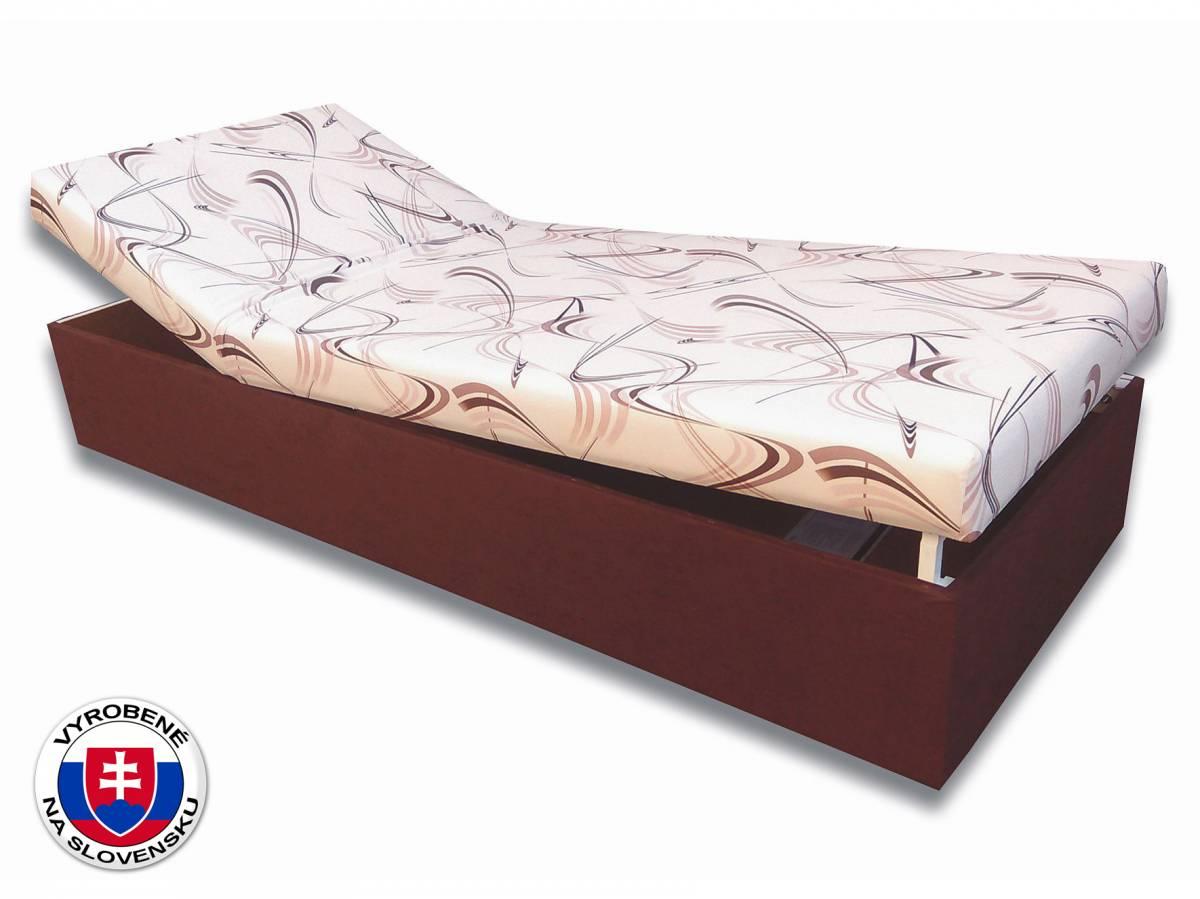 Jednolôžková posteľ (váľanda) 80 cm Darina (Tmavohnedá 40 + Sand 10)