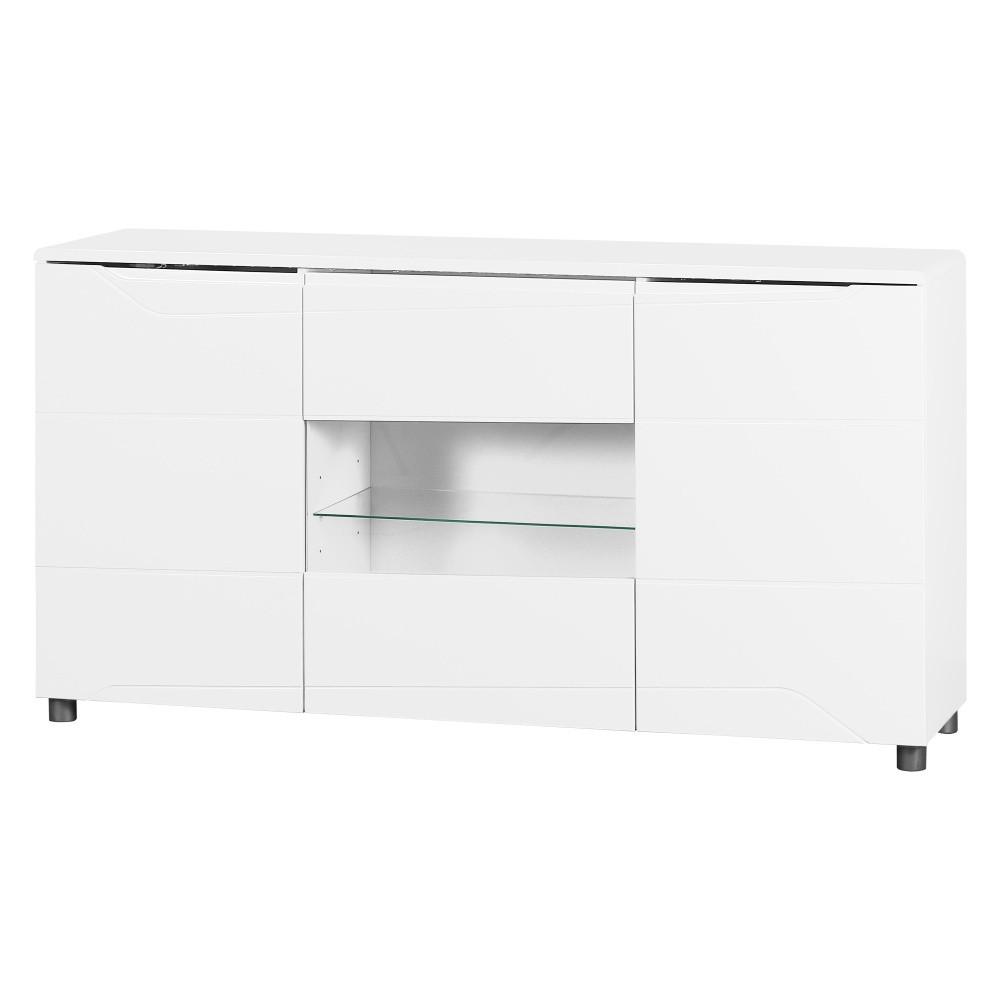 Biely 3-dverový príborník Artemob Newport