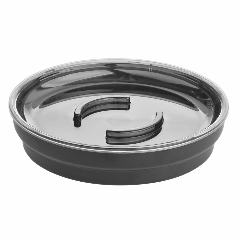 Čierna miska na mydlo iDesign, ø 11,4 cm