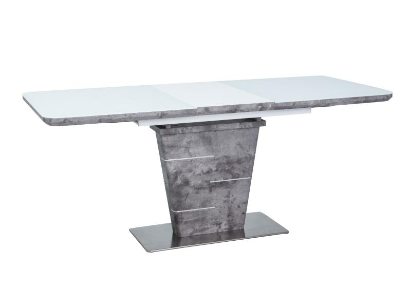 ALICANTE jedálenský stôl, betón/biely lesk