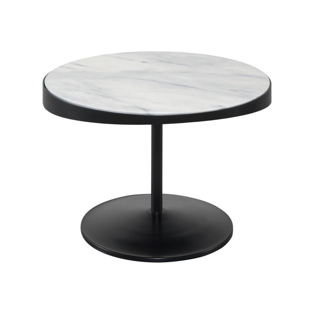 Odkladací stolík s mramorovou doskou Wewood - Portugues Joinery Drop, Ø 60 cm