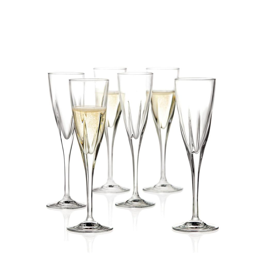 Sada 6 pohárov na sekt RCR Cristalleria Italiana Arezzo