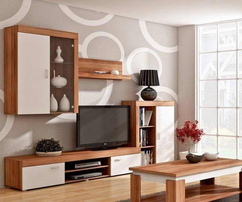 WIP MAMBA obývacia stena - slivka / biely mat