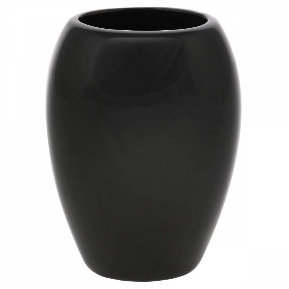 Keramická váza Jar, 14 x 20 x 9 cm, čierna