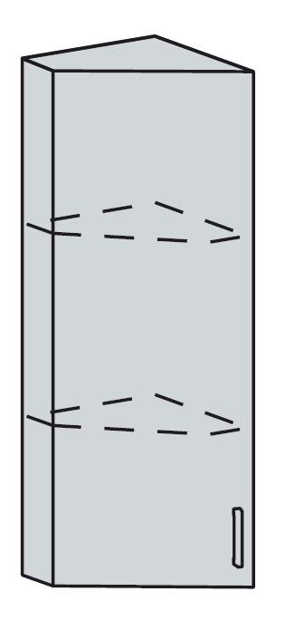 PROVENSAL horný ukon. roh 23HR-92 šedá