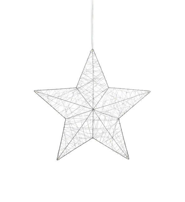 Závesná LED svietiaca dekorácia Artur, biela