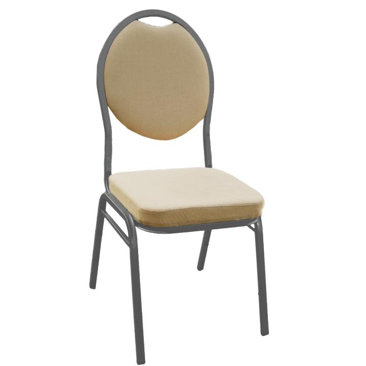 Stolička, stohovateľná, látka béžová, JEFF