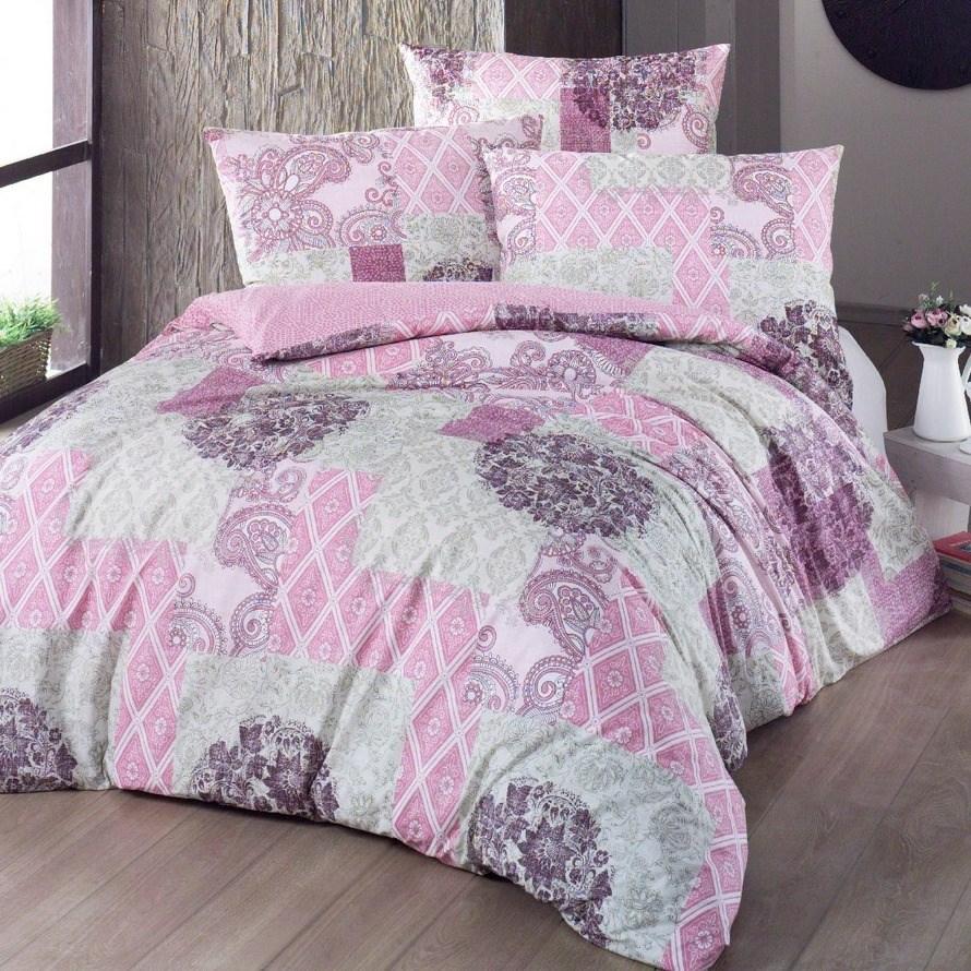 Night in Colours Bavlnené obliečky Ottorino ružová, 220 x 200 cm, 2 ks 70 x 90 cm