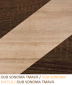 Skriňa NOTTI 01   Farba: Dub sonoma tmavá / dub sonoma svetlá / dub sonoma tmavá