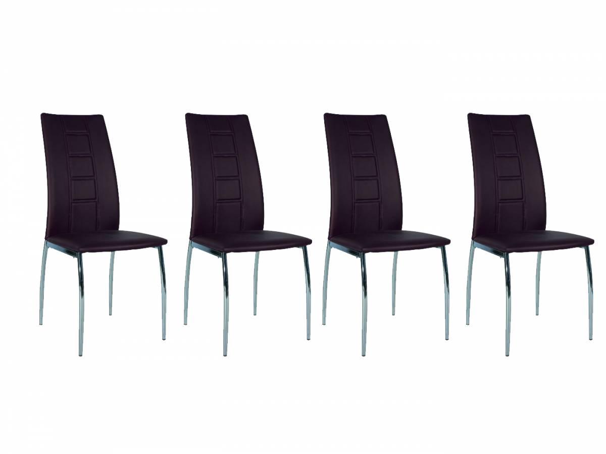 Set 4 ks. jedálenských stoličiek H-880 hnedá * výpredaj