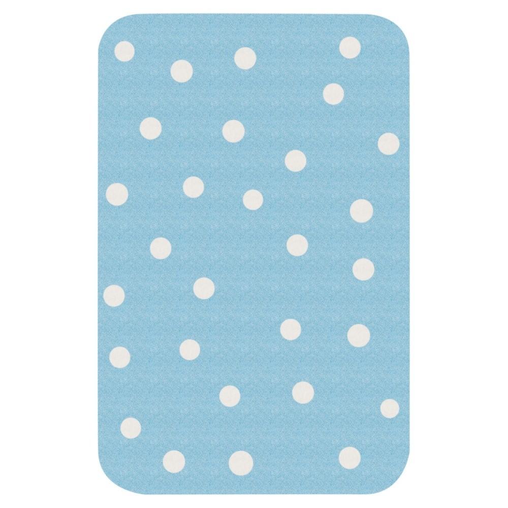 Detský modrý koberec Hanse Home Bodky, 67×120cm