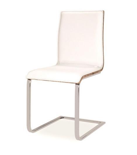 >> Jedálenská stolička HK-690, biela/dub sonoma